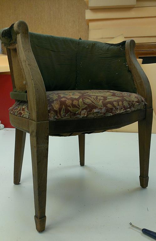 кресло без обивки